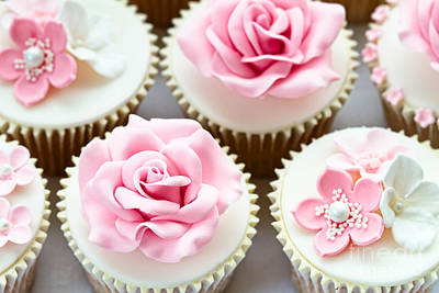 Wedding Cupcakes Art Print by Ruth Black