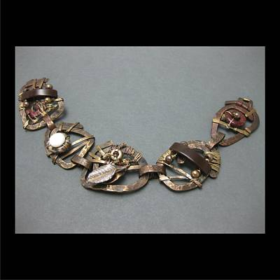 Jewelry - 337 Forged And Woven Link  by Brenda Berdnik