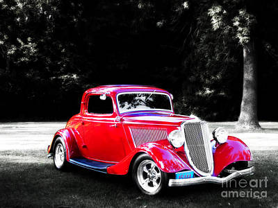 Photograph - 34 Red Ford Coupe by Ms Judi