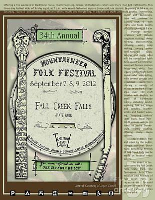 Folk Park Digital Art - 34th Annual Mountaineer Folk Festival by DeZengo Moore