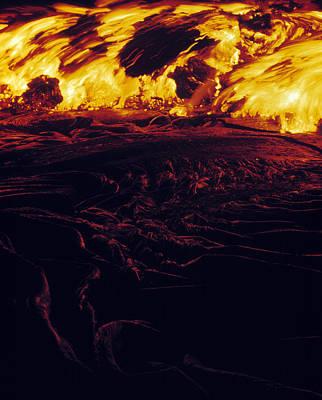 Lava Flow Art Print by G. Brad Lewis