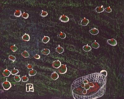 Shipping Mixed Media - 35 Or So Apples by Peter  McPartlin