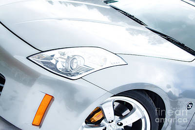 Photograph - 350z Car Front Close-up  by James BO Insogna
