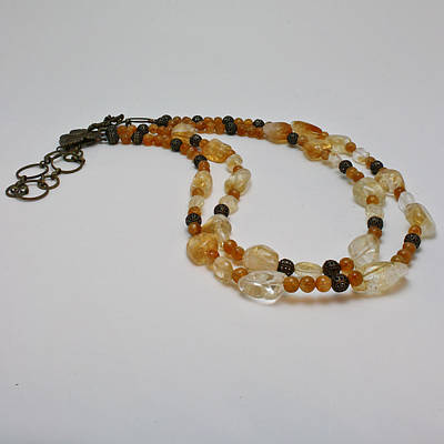 3514 Citrine Double Strand Necklace Original by Teresa Mucha