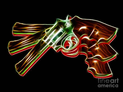 357 Magnum - Electric Print by Wingsdomain Art and Photography