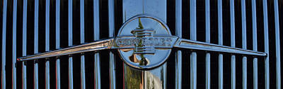 Photograph - '36 Chev Emblem by Ansel Price