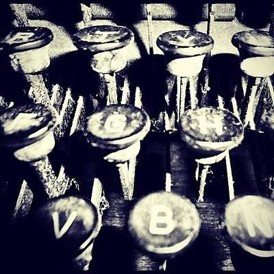 Typewriter Photograph - #tagstagram .com #follow #followme by Brandon Hesson