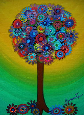 Floral Painting - Tree Of Life by Pristine Cartera Turkus