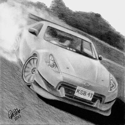 370z Fairlady Drift Art Print