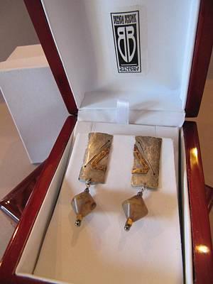 397 Fused Metal Earrings Original by Brenda Berdnik