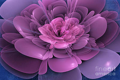 Abstract Digital Digital Art - 3d Flower by John Edwards