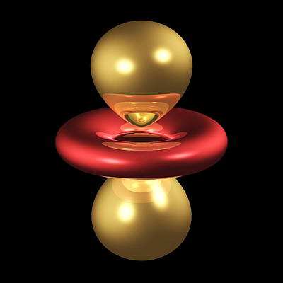 3dzz Photograph - 3dz2 Electron Orbital by Dr Mark J. Winter
