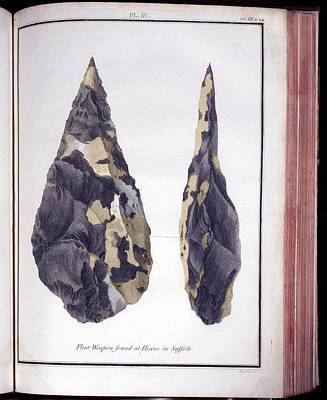 1797 First Handaxe John Frere Of Hoxne 1 Art Print