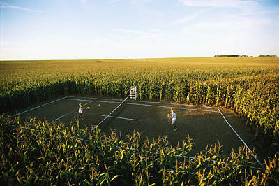 A Game Of Tennis Is Played On A Tennis Art Print