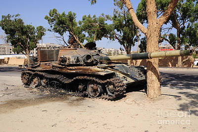 A T-72 Tank Destroyed By Nato Forces Art Print