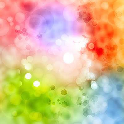 Spectrum Digital Art - Abstract Background by Les Cunliffe