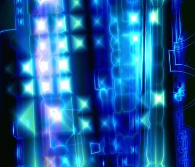 Fibre Art Photograph - Abstract Computer Artwork by Mehau Kulyk