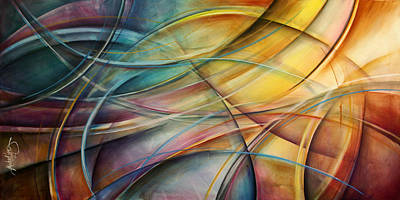 Arch Shapes Painting - Abstract  by Michael Lang