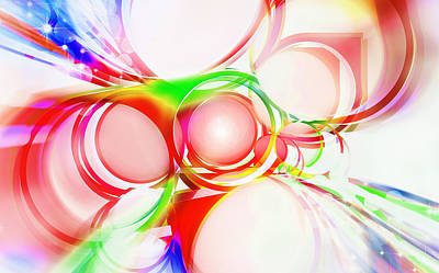 Spectrum Painting - Abstract Of Circle  by Setsiri Silapasuwanchai