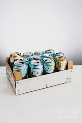 Soda Can Photograph - Aluminum Cans For Recycling by Photo Researchers, Inc.