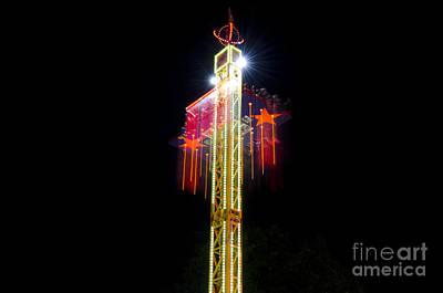 Motion Star Photograph - Amusement Park by Mats Silvan