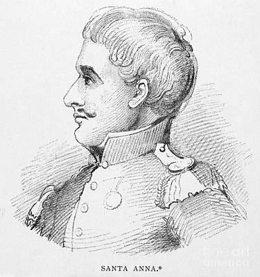 Antonio Lopez De Santa Anna Art Print