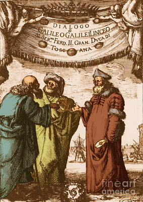 Aristotle Ptolemy And Copernicus Print by Science Source