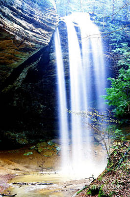 Park Scene Digital Art - Ash Cave Waterfall by Thomas R Fletcher