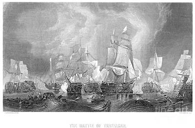 Battle Of Trafalgar, 1805 Art Print by Granger