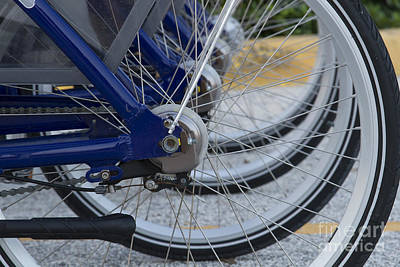 Asphalt Photograph - Bicycles by Blink Images