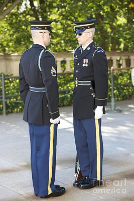 Changing Of Guard At Arlington National Art Print