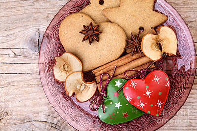 Ornaments Photograph - Christmas Gingerbread by Nailia Schwarz