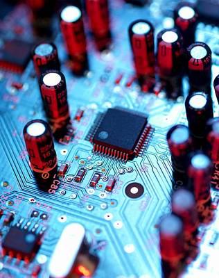 Resistor Photograph - Circuit Board by Tek Image