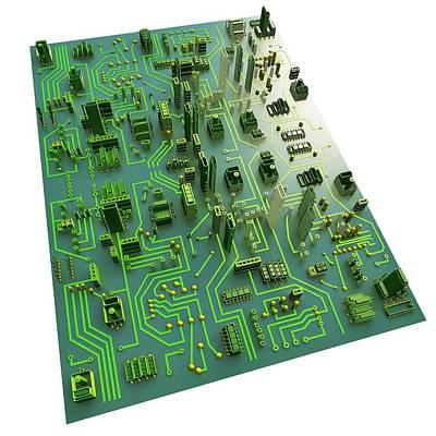 Circuit City, Computer Artwork Art Print