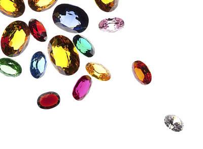 Colorful Gems Print by Setsiri Silapasuwanchai