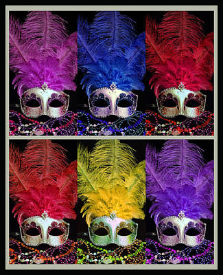 Photograph - Colorful Mardi Gras Masks by Sheila Kay McIntyre