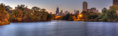 Chicago Skyline Photograph - Downtown Chicago From Lincoln Park by Twenty Two North Photography