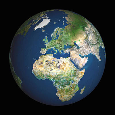 Earth Art Print by Planetobserver
