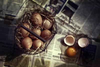 Chicken Photograph - Eggs by Joana Kruse