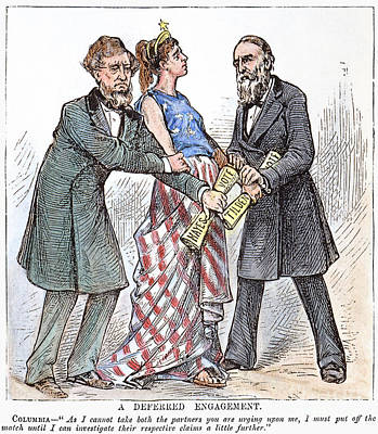 Election Cartoon, 1876 Art Print by Granger