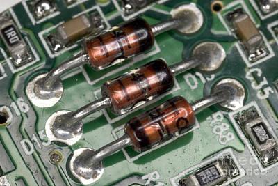 Electronics Board Art Print by Ted Kinsman