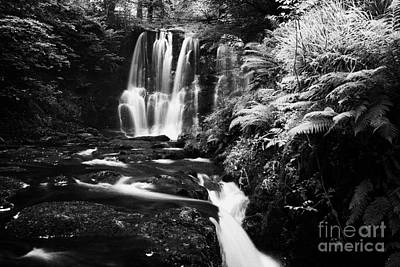 Ess-na-crub Waterfall On The Inver River In Glenariff Forest Park County Antrim Northern Ireland Uk Art Print by Joe Fox