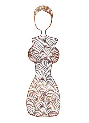 Fashion Sketch Art Print by Frank Tschakert