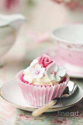 Vintage Teacup Photograph - Flower Cupcake by Ruth Black
