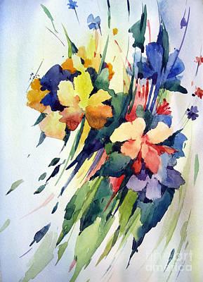 Watercolor Painting - Flowers by Natalia Eremeyeva Duarte