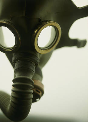 Gas Mask Print by Lawrence Lawry