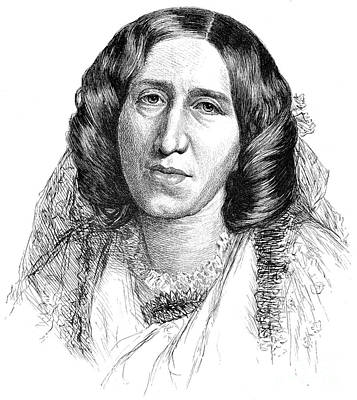 Rajon Photograph - George Eliot (1819-1880) by Granger