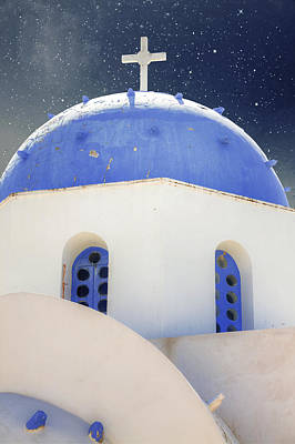 Greek Chapel Art Print by Joana Kruse