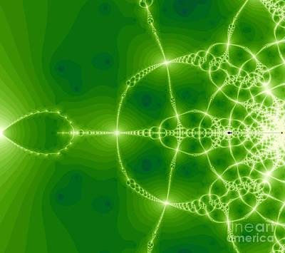 Green Fractal Art Print by Odon Czintos