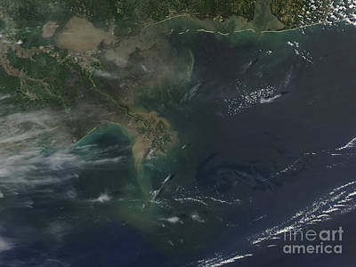 Gulf Oil Spill, April 2010 Art Print